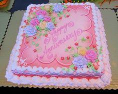 Beautiful sheet cake