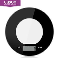 GASON C5 Kitchen scales LCD display accurate digital Toughened glass electronic cooking food weighing precision (5kgx1g) calorie *** Read more reviews of the product by visiting the link on the image.