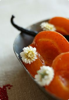 Roasted Apricots with Camomile