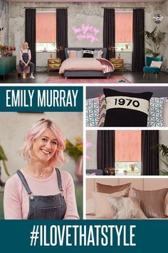 It's not just vibrant colour that collides in joyful opposition, Emily ensures that textures and surfaces play their part Hillarys Blinds, Sophie Robinson, High Energy, Eclectic Decor, Dream Bedroom, Joyful, Get The Look, Summer Collection, Bedroom Inspiration