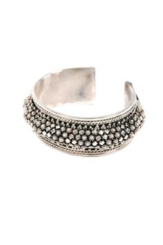 Silver Cuff - Stunning decorated silver cuff. This gorgeous unique silver cuff is a sure conversation starter.