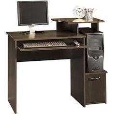 Computer Desk Writing desk Cherry Office Workstation Shelving Student Furniture #Sauder #Contemporary