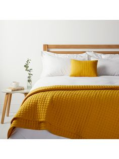 Buy Mustard House by John Lewis Jersey Cushion from our Cushions range at John Lewis & Partners. Free Delivery on orders over Mustard Bedroom, Mustard Bedding, Yellow Bedspread, Yellow Bedding, Matching Bedding And Curtains, Bedding Sets, Mustard Cushions, Bedspreads Comforters, New Room