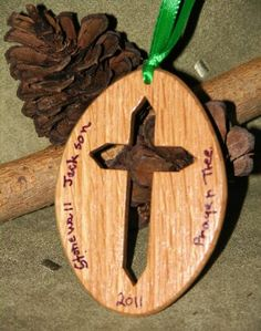 Stonewall Jackson Prayer Tree Cross Ornament. Comes with certificate of registration.
