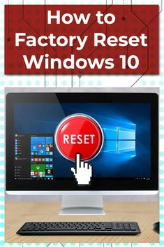 If your Windows 10 machine isn't working as well as it should be, it might be time to restore the computer to its out-of-the-box settings. Here's how to factory reset your PC. Computer Repair, How To Better Yourself, Windows 10, Restore, Microsoft, Restoration, Laptop, Diy Projects, Technology