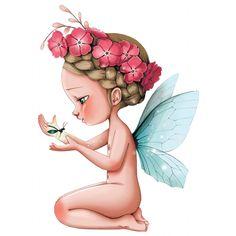 Sticker Petite fée Léonelle pour la décoration d'une chambre de fille