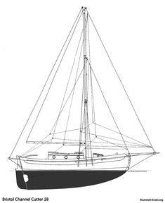 Specifications LOA: 37′ 9″ LOD: 28′ 1″ LWL: 26′ 3″ Beam: 10′ 1″ Draft: 4′ 10″ Displacement: 14,000 lbs. Ballast: 4,600 lbs. (lead) Sail Area: 673 sq. ft.  Headroom: 6′ 1″ (Optional 6′ 6″) Fuel: 32 US Gal. Water: 64 US Gal. Holding: 15 US Gal. Engine: 27 hp Yanmar 3 cyl.  Designer: Lyle C. Hess Builder: Sam L. Morse / Cape George Cutter Marine Works / Channel Cutter Yachts Year Introduced: 1975 Total Built: 129 (US) / 30-45 (Canada)  Also Known As: BCC 28, Bristol Channel Cutter