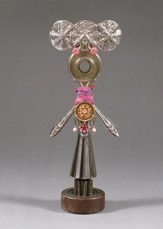 ASSEMBLAGE ART DOLL Mix media assemblage by CastOfCharacters23, $38.00