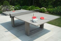 One Kings Lane - James DeWulf - Ping Pong Dining Table....Make this with dad!!!