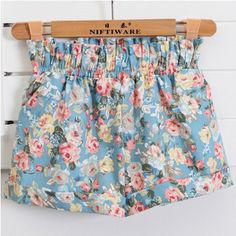 European Style Floral Cotton Female Shorts Plus Size Casual High Waist