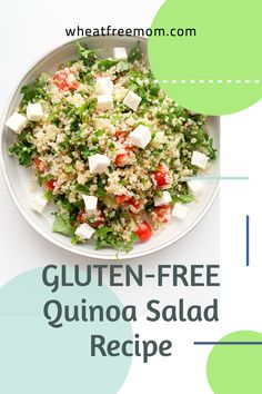 This gluten-free quinoa salad is super easy to make and uses fresh ingredients. Add a grilled protein source like tofu, chicken or fish and enjoy it as meal or use as is in recipe and it is a great side salad. Gluten Free Quinoa Salad, Cold Quinoa Salad, Salad Recipes Gluten Free, Quinoa Salad Recipes, Salad Dressing Recipes, Meal Recipes, Tofu Chicken, Free Meal