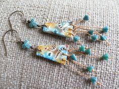 summer earrings beach earrings shore earrings by McEnroeMoments
