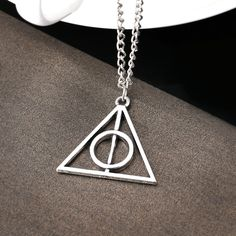 Harry Potter And Deathly Hallows Necklace Resurrection Triangle Pendant Necklace Luna Lovegood Pendant Necklace-in Pendant Necklaces from Jewelry on Aliexpress.com | Alibaba Group