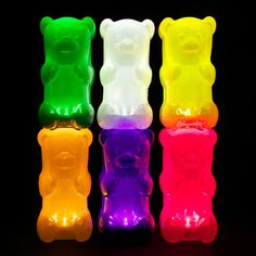 Gummy Bear Lamps - You can't help but feel like a little kid again looking at these...