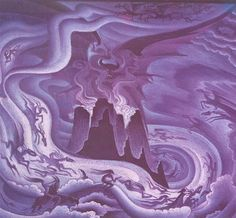 Kay Nielsens concept art for the Night on Bald Mountain scene from Fantasia.
