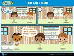 Bahama Bistro Bitstrip: Too Big a Bite - GoLeanSixSigma.com