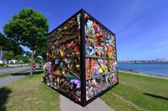 This cube is made from an entire amusement park