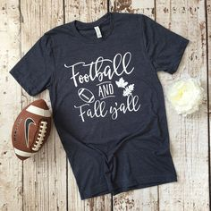 Football and Fall Shirt Fall Tees Fall Shirts Ladies Football Shirt Football Shirt For Women Football Season Shirt Football Tee Fall - Fall Shirts - Ideas of Fall Shirts - Fall means football! Fall Football, Football Season, Football Shirts, Football Boys, Sports Shirts, T Shirt Designs, Sport Motivation, Coaching, Fall Shirts