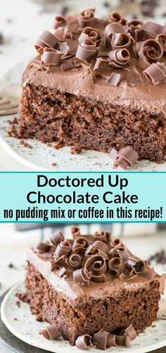 This is hands down our favorite doctored up chocolate cake mix recipe! Doesnt use pudding or coffee which is great. Always get tons of compliments on it! Best Dessert Recipes, Cupcake Recipes, Fun Desserts, Delicious Desserts, Cupcake Cakes, Baking Recipes, Easy Recipes, Cake Mix Cupcakes, Awesome Desserts