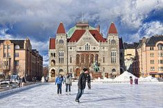 Railway Station Square, Helsinki, Finland