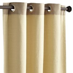 Possibility for MainFlr Living Rm Drapery Ciudad Window Panel - Sand Drapery Panels, Window Panels, Drapes Curtains, Striped Curtains, Sliding Glass Door, Glass Doors, Pier 1 Imports, The Ordinary, Window Treatments