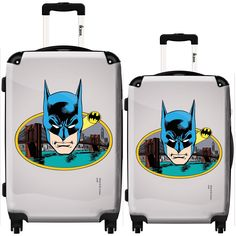 iKase 'Batman Comics Portrait' 2-piece Fashion Harside Spinner Luggage Set
