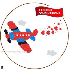 Instant Download Aeroplane Cross Stitch Pattern by ZindagiDesigns, $4.00