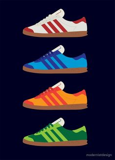 Sneaker illustrations from Modernist Design