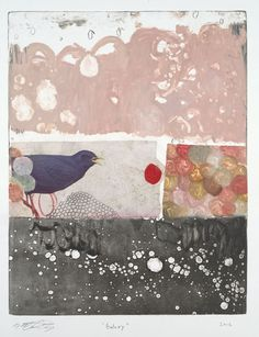Michael  Cutlip - Michael Cutlip at Seager Gray Gallery Galaxy is a whimsical colorful monotype