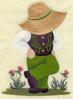 Irish Dancer Fisherman Fred Fabric Towels by StartingStitches Hand Applique, Applique Patterns, Applique Quilts, Applique Designs, Quilting Designs, Hand Embroidery, Quilt Patterns, Patchwork Designs, Sunbonnet Sue