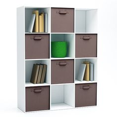 Stow away your odds and ends with a cute and functional storage cube! This cube would be perfect for an apartment or dorm room. Storage Cubes, Smart Storage, Cube Furniture, Stow Away, Household Items, Getting Organized, Storage Solutions, Dorm Room, Sweet Home