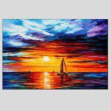 Resultado de imagen de imagenes de paisajes de mar al oleo