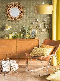 Jungle Urbana: decoration trends in HM and Maisons du Monde Hallway Unit, Room Deco, Deco Retro, D 40, Estilo Retro, Home Living, Midcentury Modern, Rattan, Home Accessories