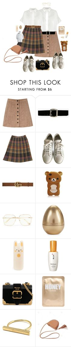 """""""When did you get so pretty?"""" by zazzycat ❤ liked on Polyvore featuring Glamorous, Express, CÉLINE, Lanvin, Gucci, Chloé, Tony Moly, Sulwhasoo, Prada and Lapcos"""