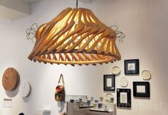 Chandelier made of wooden clothes hangers.  22 DIY Projects with Repurposed Hangers | diy crafts
