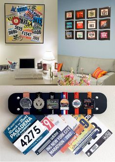 Race Medal Displays, Running Medals, Race Bibs, Runners, Projects To Try, Track, Racing, Gym, Random