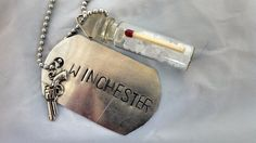 Supernatural Winchester bottle necklace by JunkyPunkyCraft on Etsy, $10.00
