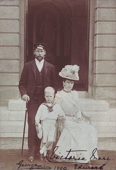 King George V and Queen Mary with their eldest child, Prince Edward, later King Edward VIII and Duke of Windsor,