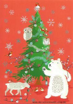 In 3 1/2 Wochen ist Weihnachten ... wir rocken das www.der-schreibladen-shop.de #Postkarten   #Weihnachtskarten   #RogerLaBorde   #Papeterie   #Nürnberg   #postcrossing