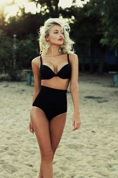 Every girl needs a black Swimsuit! #Swimsuit #Swim #Swimwear #Black #Sexy Visit Kaiio.com for more...