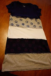 Turn those old t-shirts into a t-shirt dress!!
