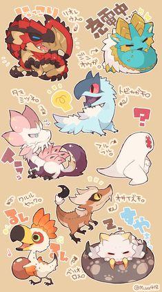 Monster Hunter Cat, Monster Hunter Series, Monster Art, Myths & Monsters, Cute Monsters, Fantasy Creatures, Mythical Creatures, Game Character, Character Design