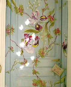 Painted door-cool idea