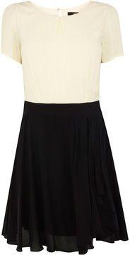 shopstyle.com.au: Oasis Frill Colourblock Skater Dress