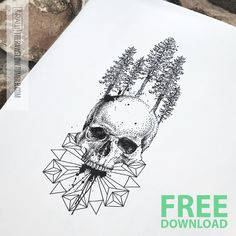 "therawflow: "" Grab this skull/mandala tattoo design for FREE: skinque.com#forfree "" Chech this out! ✨"