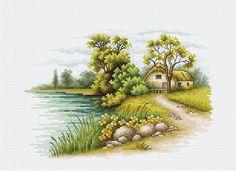 Paisaje con un lago