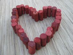 Red Wine Corks  eco crafting supply upcycle craft by TheWoodenBee, $7.00  Team FEST