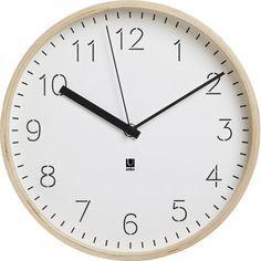 """Umbra 10"""" Rimwood Wall Clock"""