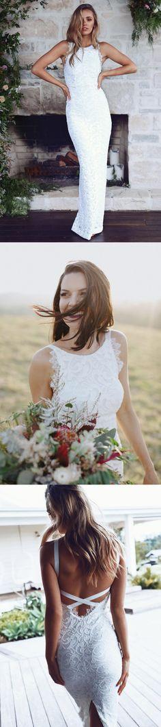 Vintage Lace Wedding Dress, Split Bridal Dress, Sexy Wedding Dress, Custom Made Wedding Dress#wedding#weddingdress#weddingdresses
