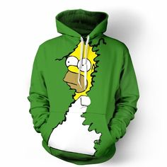 Homer Simpson Bushes Hoodie Gifts For Boss, Homer Simpson, Unisex, Hoodies, Sweaters, How To Wear, Clothes, Bow, Fashion